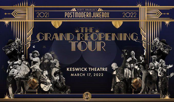 Scott Bradlee's Postmodern Jukebox tickets at Keswick Theatre in Glenside