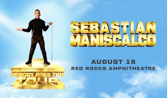 Sebastian Maniscalco tickets at Red Rocks Amphitheatre in Morrison