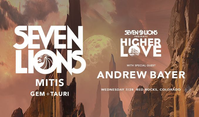 Seven Lions tickets at Red Rocks Amphitheatre in Morrison