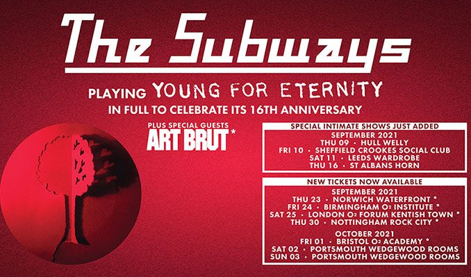 The Subways - Young For Eternity - RESCHEDULED tickets at O2 Forum Kentish Town in London