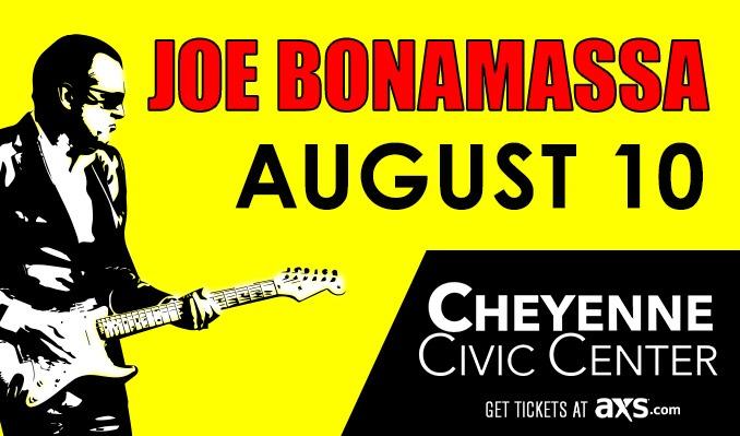 Joe Bonamassa tickets at Cheyenne Civic Center in Cheyenne