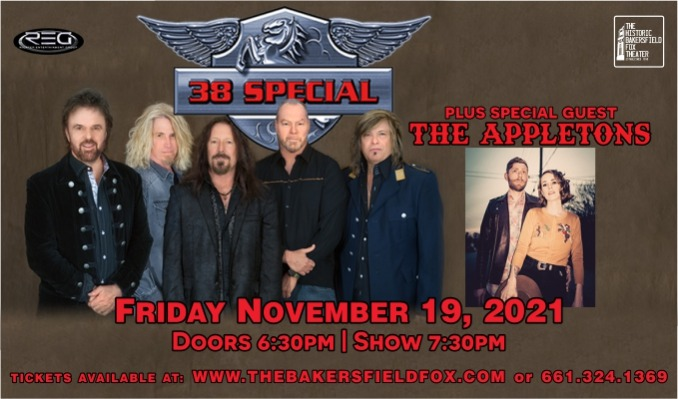 38 Special tickets at Historic Bakersfield Fox Theater in Bakersfield