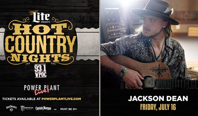 Miller Lite Hot Country Nights: Jackson Dean tickets at Power Plant Live! in Baltimore