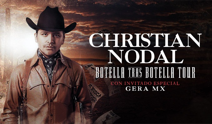 Christian Nodal with special guest Gera MX: Botella Tras Botella Tour tickets at Gas South Arena in Duluth