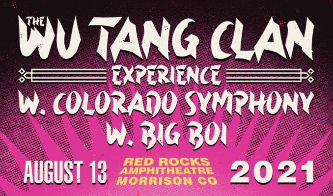 Wu-Tang Clan w/ Colorado Symphony tickets at Red Rocks Amphitheatre in Morrison