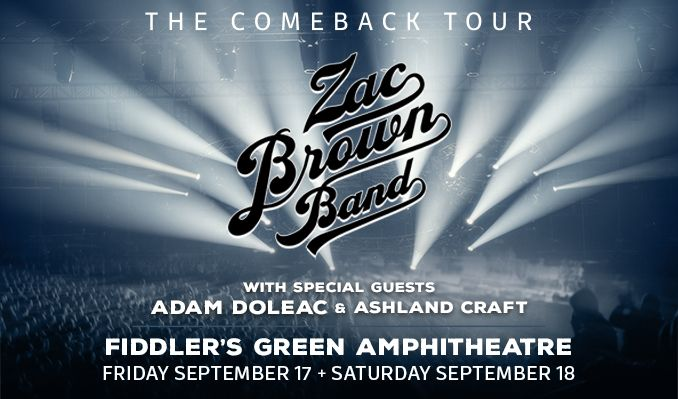Zac Brown Band tickets at Fiddler's Green Amphitheatre in Greenwood Village