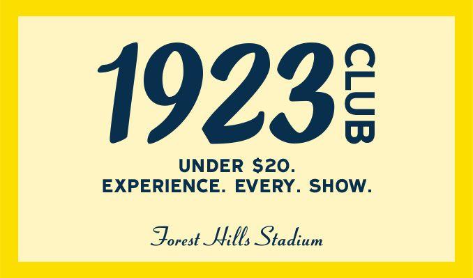 1923 Club tickets at Forest Hills Stadium in Queens