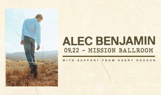 Alec Benjamin tickets at Mission Ballroom in Denver