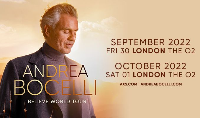 Andrea Bocelli - RESCHEDULED  tickets at The O2 in London