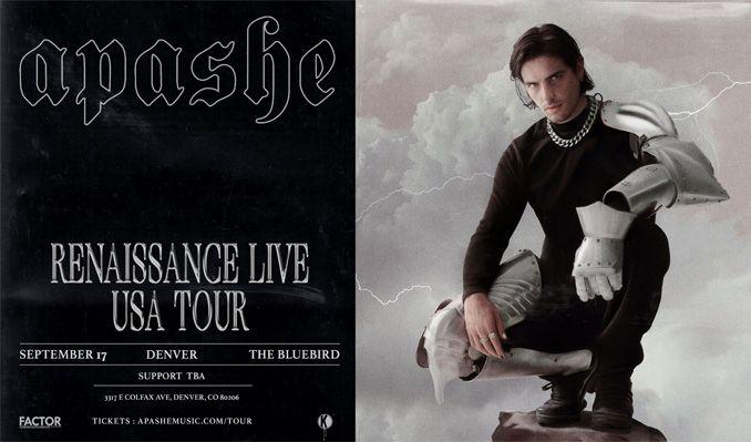 Apashe - Renaissance Live Tour tickets at Bluebird Theater in Denver