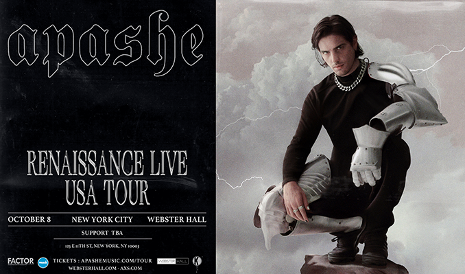 Apashe  tickets at Webster Hall in New York