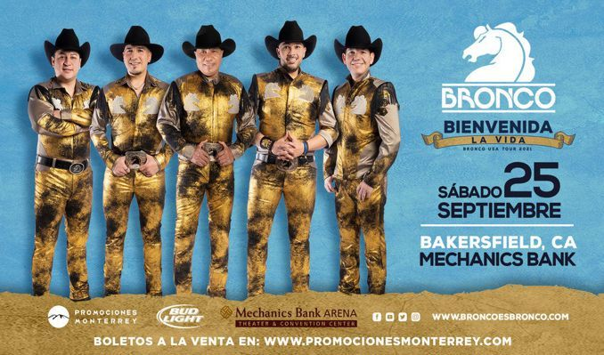 Bronco tickets at Mechanics Bank Theater in Bakersfield