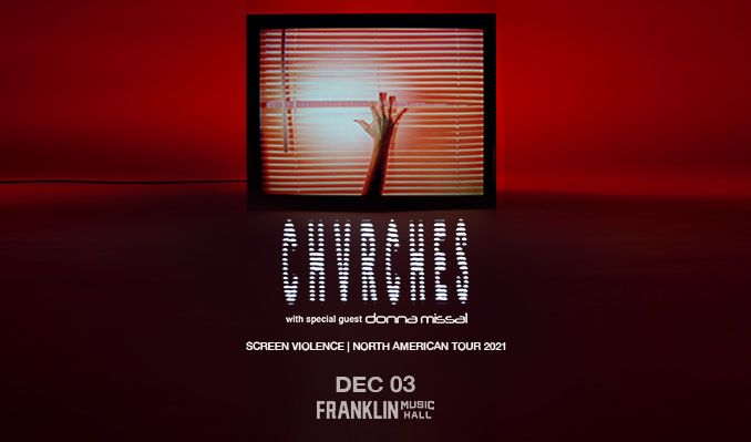 CHVRCHES tickets at Franklin Music Hall in Philadelphia