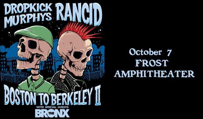 Rancid & Dropkick Murphys tickets at Frost Amphitheater at Stanford in Palo Alto