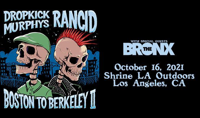 "Dropkick Murphys and Rancid ""Boston to Berkeley II"" tickets at Shrine LA Outdoors in Los Angeles"