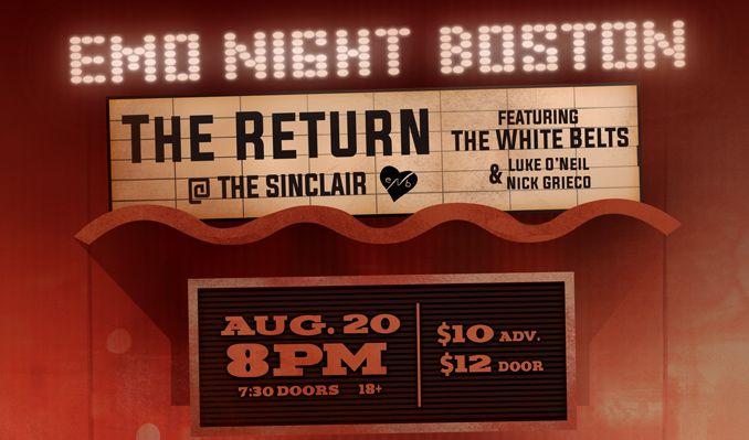 Emo Night Boston tickets at The Sinclair in Cambridge