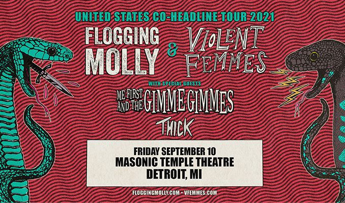 Flogging Molly / Violent Femmes tickets at Masonic Temple Theatre in Detroit