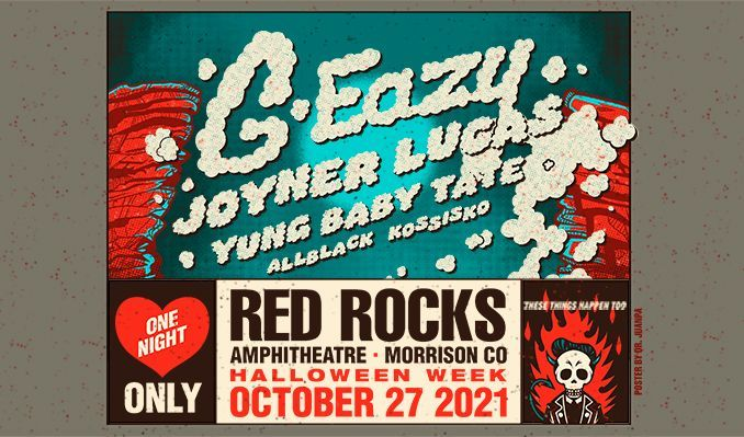 G-Eazy tickets at Red Rocks Amphitheatre in Morrison