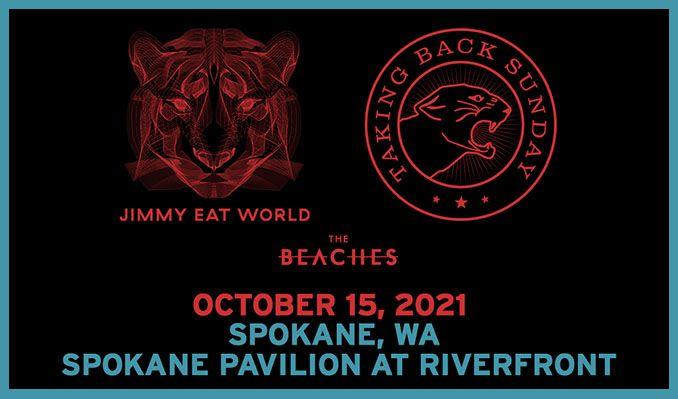 Jimmy Eat World / Taking Back Sunday tickets at Pavilion at Riverfront in Spokane