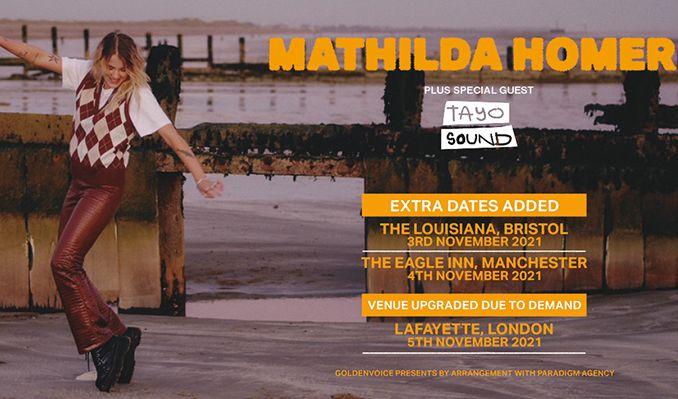 Mathilda Homer tickets at Eagle Inn in Salford