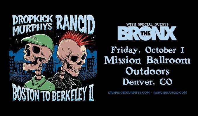 Rancid & Dropkick Murphys tickets at Mission Ballroom Outdoors in Denver