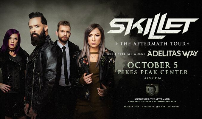 Skillet tickets at Pikes Peak Center in Colorado Springs