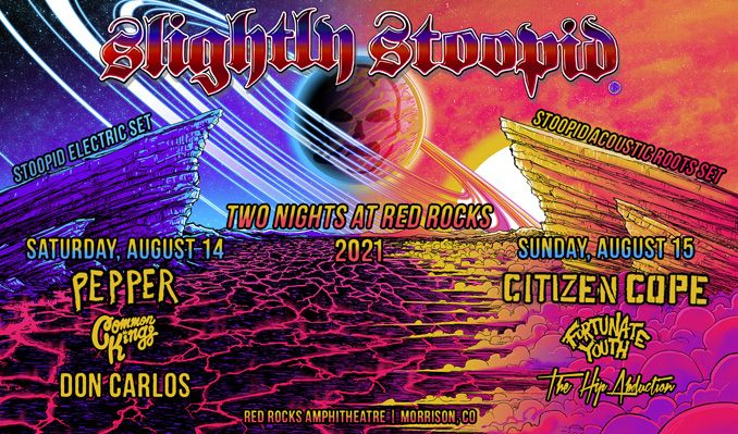 Slightly Stoopid 8/14 tickets at Red Rocks Amphitheatre in Morrison