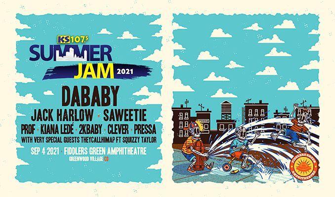 Summer Jam  - DaBaby w/ Jack Harlow, Saweetie tickets at Fiddler's Green Amphitheatre in Greenwood Village