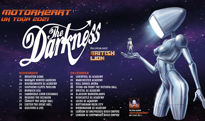 The Darkness tickets at The Nick Rayns LCR, UEA in Norwich