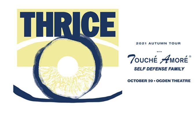 Thrice tickets at Ogden Theatre in Denver