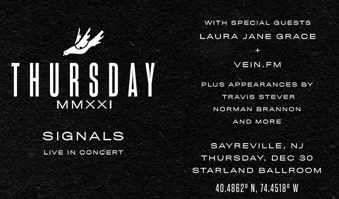 WSOU and Thursday Present SIGNALS LIVE tickets at Starland Ballroom in Sayreville