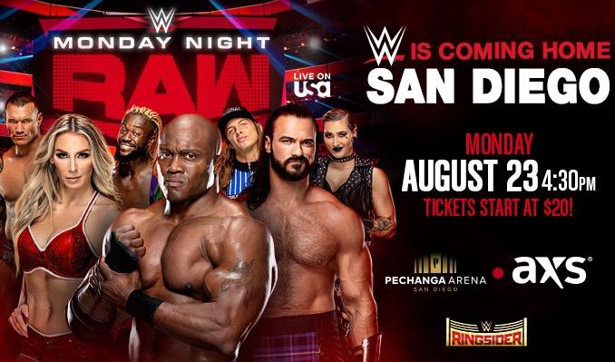 WWE Monday Night RAW tickets at Pechanga Arena San Diego in San Diego