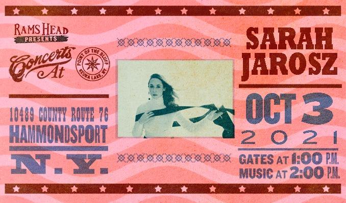 Sarah Jarosz tickets at Point of the Bluff in Hammondsport