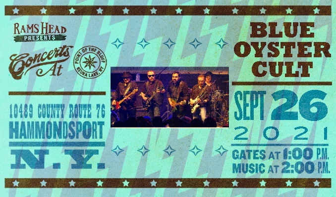 Blue Oyster Cult tickets at Point of the Bluff in Hammondsport