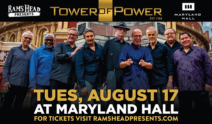 Tower of Power tickets at Maryland Hall in Annapolis