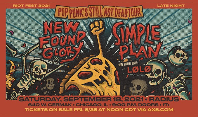 New Found Glory and Simple Plan tickets at Radius in Chicago
