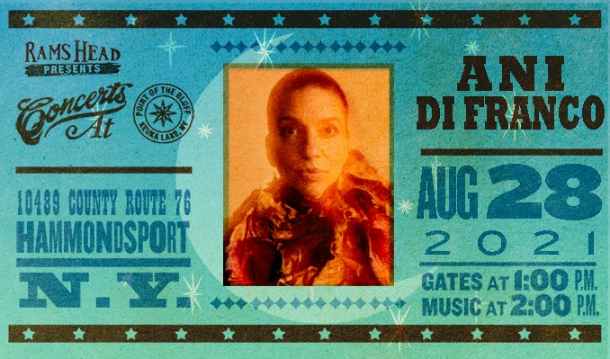 Ani DiFranco tickets at Point of the Bluff in Hammondsport