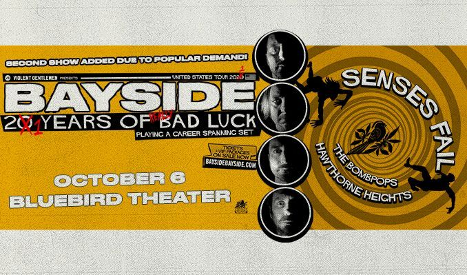 Bayside tickets at Bluebird Theater in Denver