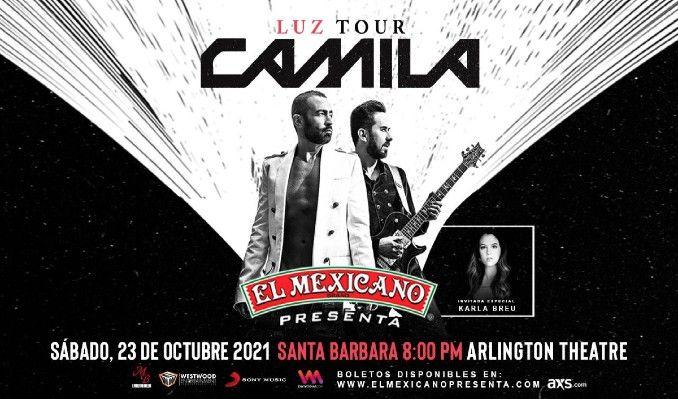Camila tickets at Arlington Theatre in Santa Barbara