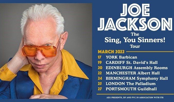 Joe Jackson tickets at Birmingham Symphony Hall in Birmingham