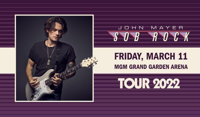 John Mayer tickets at MGM Grand Garden Arena in Las Vegas