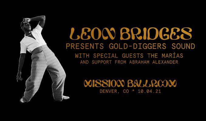 Leon Bridges tickets at Mission Ballroom in Denver