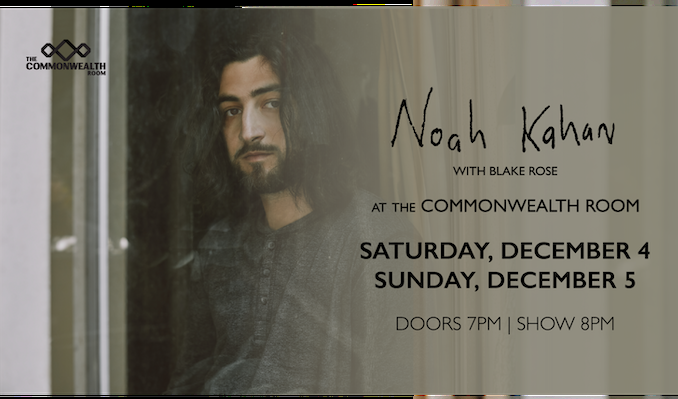 Noah Kahan tickets at The Commonwealth Room in South Salt Lake