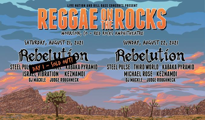 Reggae On The Rocks 8/22  tickets at Red Rocks Amphitheatre in Morrison