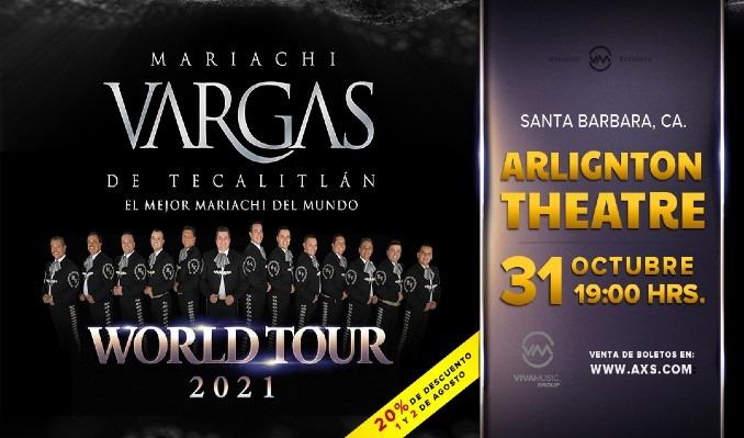 Mariachi Vargas tickets at Arlington Theatre in Santa Barbara