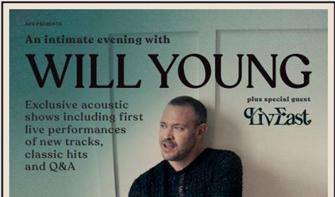Will Young tickets at St Luke's in Glasgow