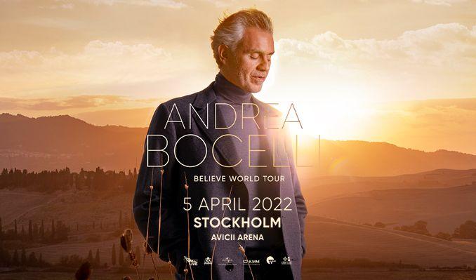 Andrea Bocelli tickets at Avicii Arena in Stockholm