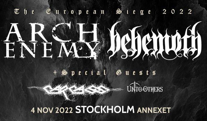 Arch Enemy + Behemoth - NYTT DATUM tickets at Annexet in Stockholm
