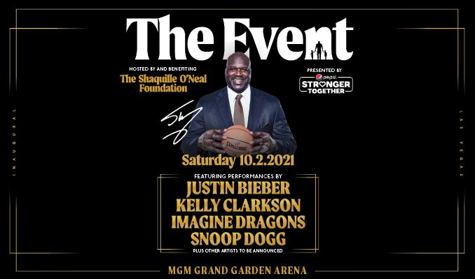 Hosted by The Shaquille O'Neal Foundation, Presented by Pepsi Stronger Together tickets at MGM Grand Garden Arena in Las Vegas