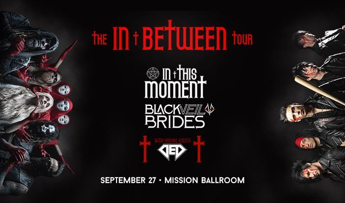 In This Moment and Black Veil Brides  tickets at Mission Ballroom in Denver